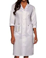 DICKIES Button Front WHITE Scrub Dress 84503 Nurses/Students/Medical Assistants