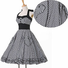 ❤CHEAP❤ Vintage 1950s Rockabilly Housewife Evening Swing Pin Up Party Prom Dress