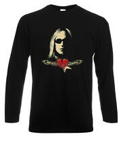 Tom Petty and The Heartbreakers Rock Music Long Sleeve Black T-Shirt Size S-3XL