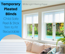Temporary Blinds - White Pleated Light Filtering Privacy Blinds - Cheap, quick