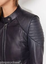 UTERQUE (ZARA LUX) | NAPPA LEATHER JACKET WITH PADDED SHOULDERS NWT | 0611/500