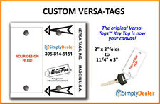 Versa-Tags Key Tags CUSTOM Qty 250 Keytags with Rings for Auto Dealership