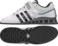 new mens adidas adipower weightlifting/weightlift shoes m25733/white/black/grey