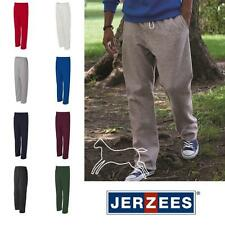 JERZEES Men's NuBlend Open Bottom Pocketed Sweatpants S-3XL 974MPR