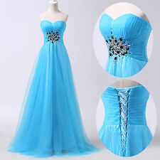 2014 HOT Long Tulle Evening Formal Bridesmaid Wedding Ball Gown Prom Party Dress