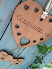Personalised Wedding Engagement Anniversary Gift Sign Congratulations Heart