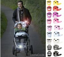 BUGGI LIGHTS - Buggy Pushchair Pram Stroller Torch Baby Safety Pink Red Blue NEW