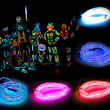 Flash Flexible Neon Fairy LED Glow El Strip Tube Wire Rope for Light Dance Party