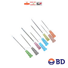 MULTIAUCTION 100 x BD NEEDLES STERILE CHOICE OF 12 SIZES BLUE INK FAST CHEAPEST