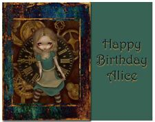 ALICE IN WONDERLAND Edible Images Cake Frosting Topper Birthday Party Decoration