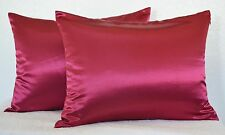 High Quality 2 Pieces of Hidden Zipper Satin Pillow Case, Multi Size/Color