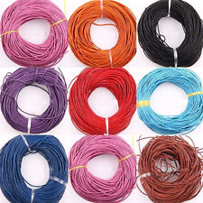 Wholesale 3 Meter Real Leather Necklace Charms Rope String Cord 2.0 mm Any Color