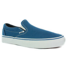 Vans Classic Slip-On Mens Canvas Navy Trainers New Shoes All Sizes