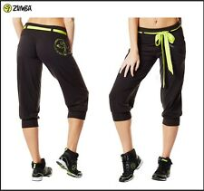 "ZUMBA  FITNESS Belted ""Do it for Fame"" Capri Capris Pants~Hip-Hop~Dance~Yoga~etc"