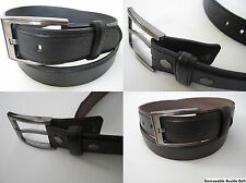 New Men's Women's Dress Casual Leather Belt 1-Prong Removable Buckle Black Brown