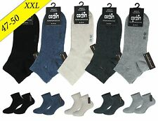 6 Pairs Men's Short - Quarter - Socks Cotton Without Rubber/plus Size XXL