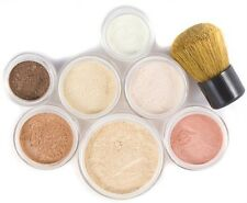 Bare Sheer Natural Cover Kit Pure Mineral Makeup Set - 9pc Full Size
