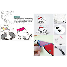 Asi Cute Night Light Wallpaper Stickers Wall Lamp Kid Bedroom Cartoon Home Decor
