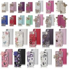 For Apple iphone 5 5S Luxury Bling Diamond Flip Wallet PU Leather Case Cover