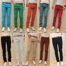 New Mens Slim Fit Casual Pants Skinny Stretch Pencil Jeans Trousers 8 Color