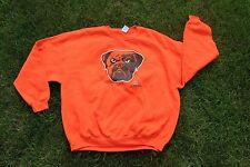 SLAMTees.com- CLEVELAND BROWNS - SWAGGER THE DAWG - ORANGE CREW NECK SWEATER