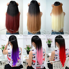 Two Tone Style Choose from 6 Colors Ombre Dip Dye Clip In Hair Extensions Nice