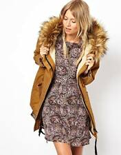 ASOS Cocoon Parka With Oversized Faux Fur Trim Hood Size UK 8_10_12_14_16 New