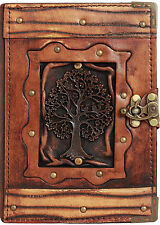 Tree of Life Pendant Refillable Leather Journal / Diary / Lock / Notebook Pad