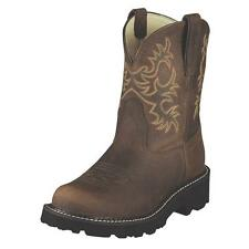 Ariat Women's Fatbaby Original Western Cowgirl Boot Distressed Brown 10007646