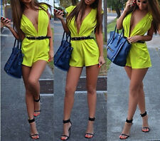 New Sexy Bodycon Jumpsuit Short Catsuit Romper Dress