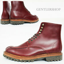 Mens High top Split Toe Reddish Brown Leather Boots Handmade 5403, GENTLERSHOP