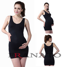 New Nursing Comfy Women Pregnant Slip Dress Maternity Clothing Seamless