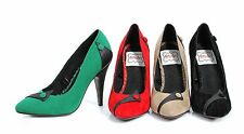 """Bettie Page 4"""" High Heel Classic Closed Toe Pump Women's Shoes BP438-SPENCER"""
