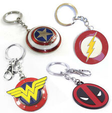 SUPERMAN FLASH WONDER WOMAN CAPTAIN AMERICA DEADPOOL LANTERN Metal Keychain