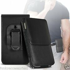 Soft Leather Belt Clip Pouch Holster Magnetic Flip Case Cover Holder