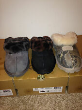 Authentic UGG Australia Coquette Black & Charc. Leopard and Snake Size 6-10 NIB
