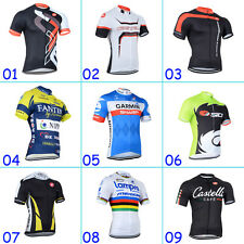 2014 New Mens Outdoor Team Cycling Bike Clothing Top Shirt Jersey Quick Dry Soft