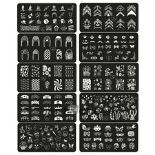 10 Style Steel plate Nail Art Image Stamp Stamping Plates Manicure Template