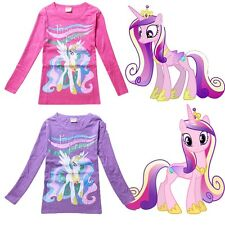 My Little Pony Kids Boys Girls Long Sleeve T-Shirt Tops Tee Clothing 4-10 Years