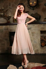 New Cheap Summer Short Party Dresses Leisure Chiffon Skirt Women's Dress