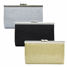 Satin Ladies Evening Clutch Wedding Clutch Womens Silver Clutch Purse Gold Black