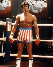 ROCKY IV SYLVESTER STALLONE IN BOXING RING BARECHESTED PHOTO OR POSTER