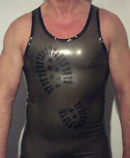 Rubber/latex/gummi vest/tank top-BOOT print, gay, choice of colours/sizes