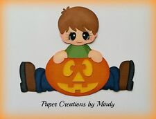Craftecafe Mindy Pumpkin Fall Halloween boy premade paper piecing for scrapbook