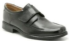 HOIST/HANDLE/HARP ROLL- MENS CLARKS CASUAL RIPTAPE SHOES BLACK LEATHER FIT G