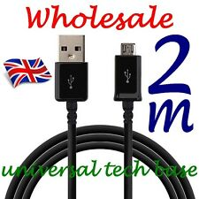 Wholesale 2m Long Micro USB Data Charger Cable Lead for Samsung Galaxy S3 4 Htc
