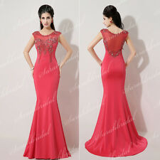 Sexy Dresses For Women Red Lace Vintage Tight Beaded Prom Party Cocktail Dresses