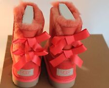 New Kid's Toddler UGG Bailey Bow Boots (shrimp)