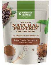 All Natural Whey Protein Powder Organic Choc Raw Cacao Superfood Nutrition