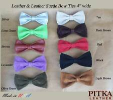 Leather Bow Ties for Men - Leather Suede Bow Ties - Holiday Gift for Him - USA